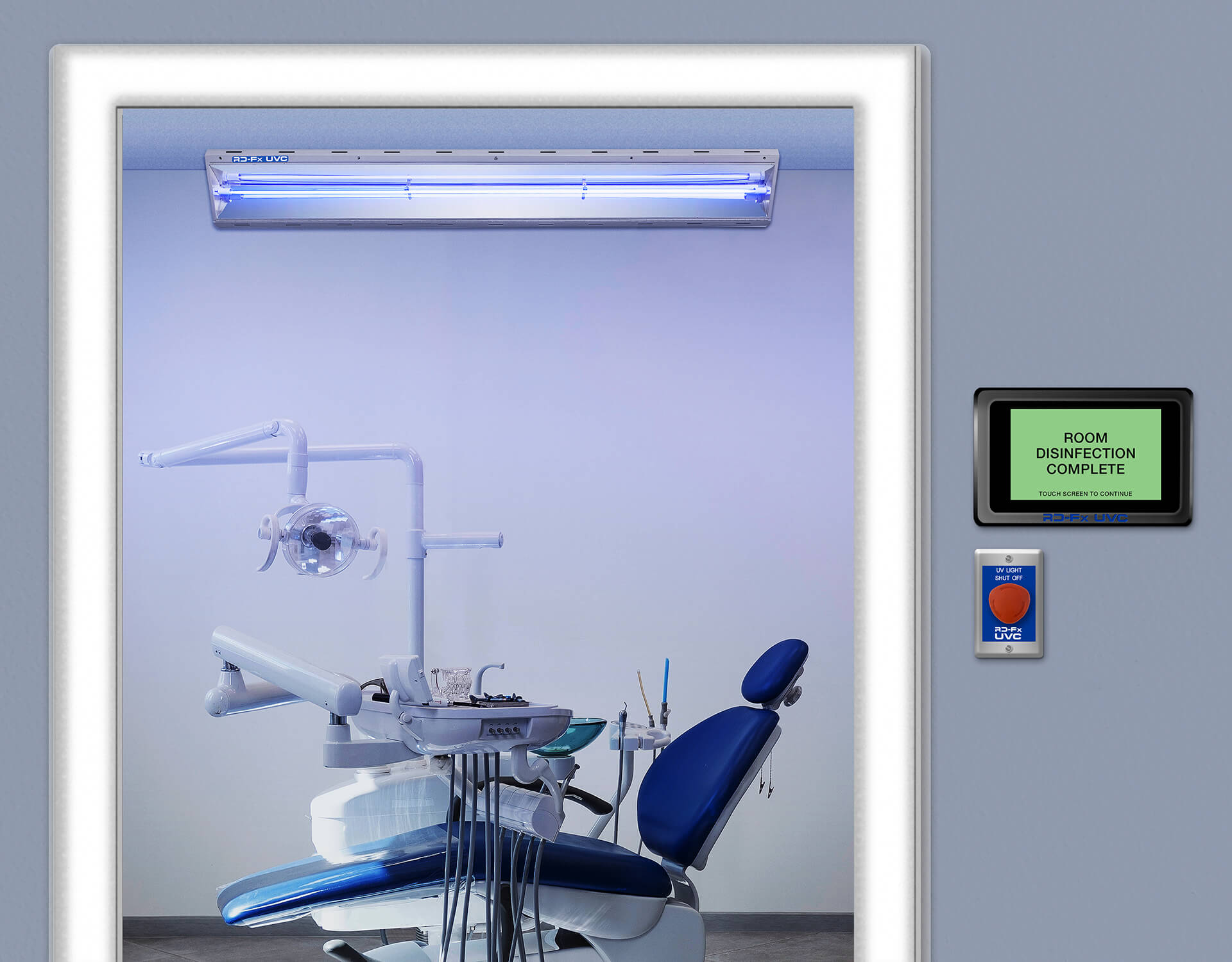 fixed uv light disinfection in dentist office